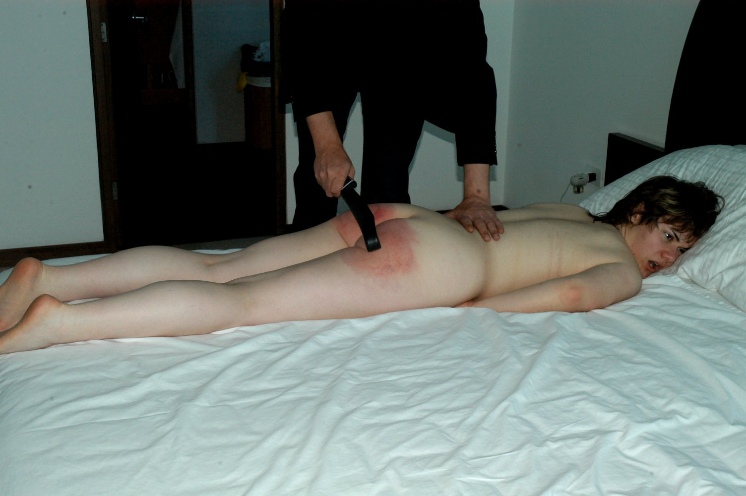 Hard Bare Butt Spanking